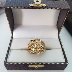 Other - Mens XL Yellow Gold Plated Dipped Nugget Ring